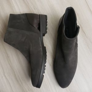Paul Green Charcoal Suede Pointed Toe Booties